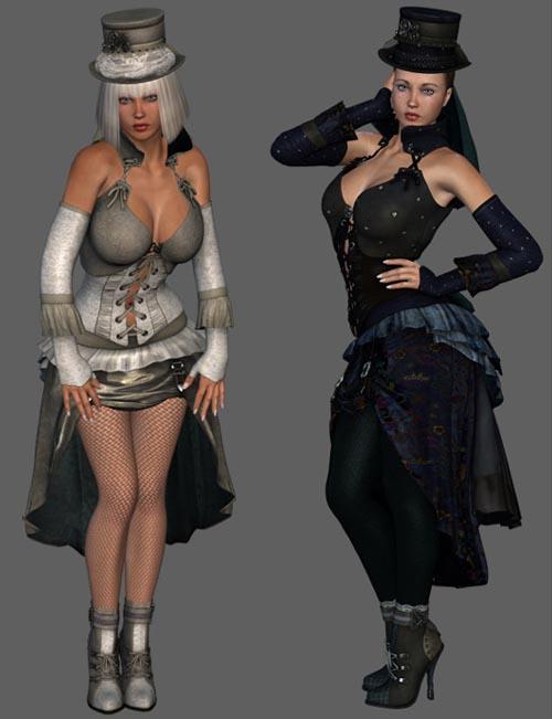 Steampunk Lovelace Clothes V4, A4, G4