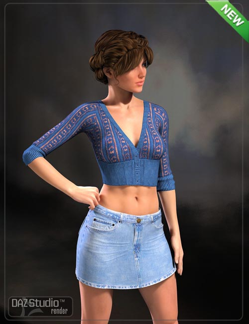 JeanZ Skirt for Genesis and Genesis 2 Female(s)