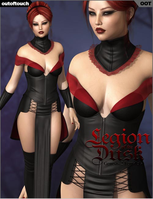 LEGION OF THE DUSK for Genesis 2 Female(s) - Victoria 6 / Gia 6 / Girl 6