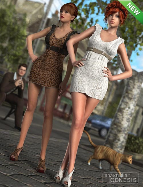 Cute Mini-Dress and Shoes Textures