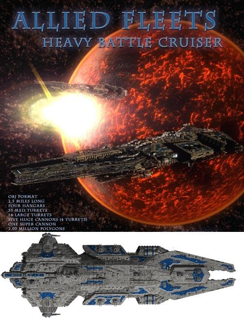 Allied Fleets Heavy Battle Cruiser OBJ Format