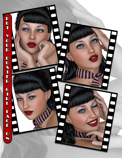 Fabulous 50's Pinup Girl Expressions