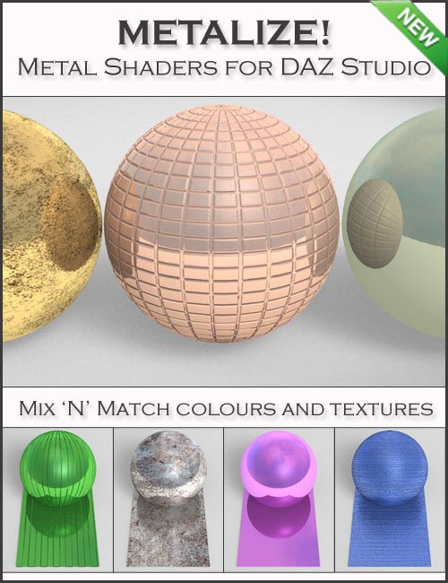 Metalize! Shader Presets for DAZ Studio