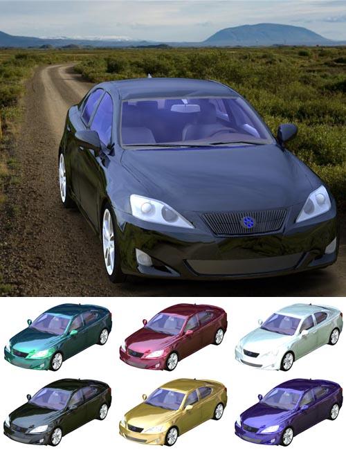 Luxury Sedan Car 2 (for Poser and Vue)