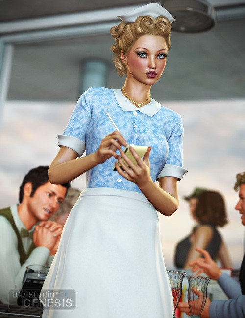 Diner Waitress for Genesis Female [ iray update ]