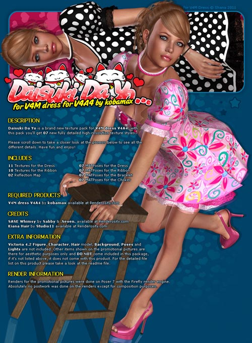 Daisuki Da Yo for V4M dress V4A4