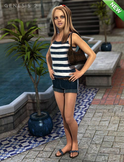 Boardwalk Outfit for Genesis 2 Female(s)