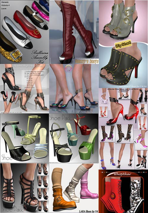 Renderosity Shoes Big Pack