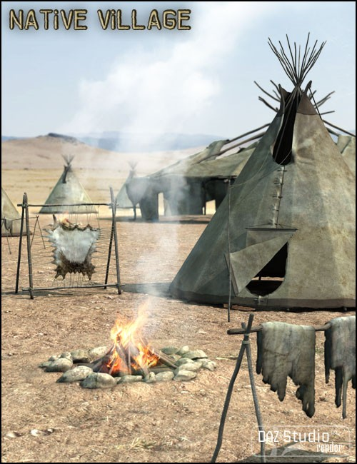 Native Cheyenne Village