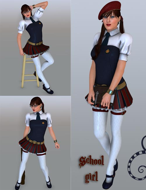 School Girl poses