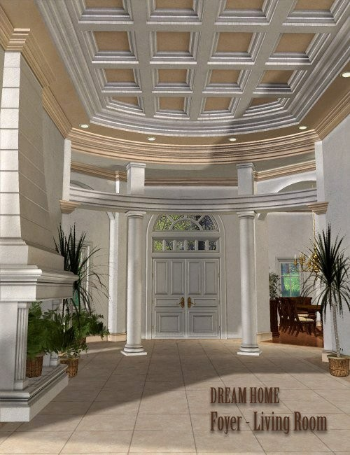 Dream Home: Foyer and Living Room