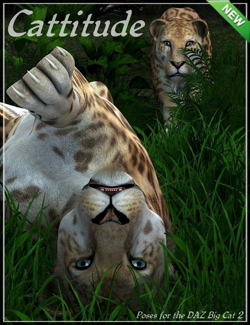 Cattitude Poses for DAZ Big Cat 2