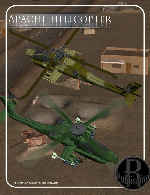 Apache Helicopter (Poser, Vue & Obj)
