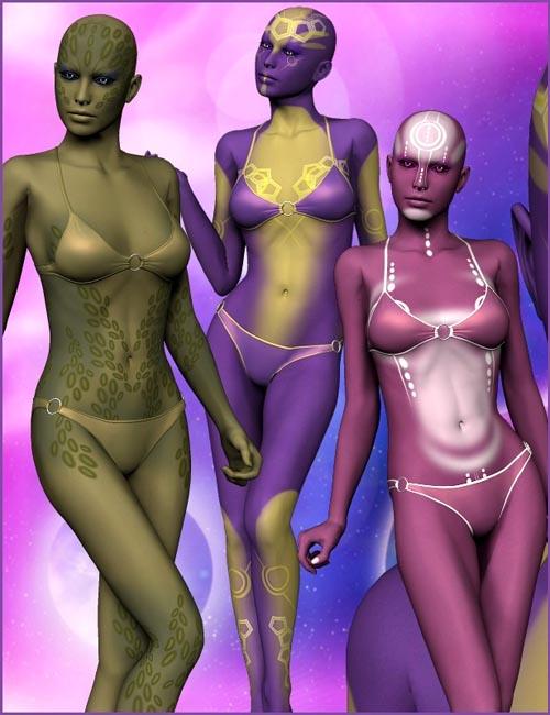 Azha - alien skin textures for V4