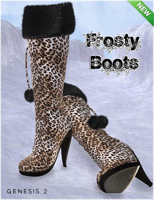 Frosty Boots for Genesis 2 Female(s)