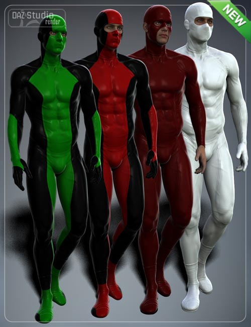 Super Hero Suit for Genesis 2 Male(s) and Michael 6