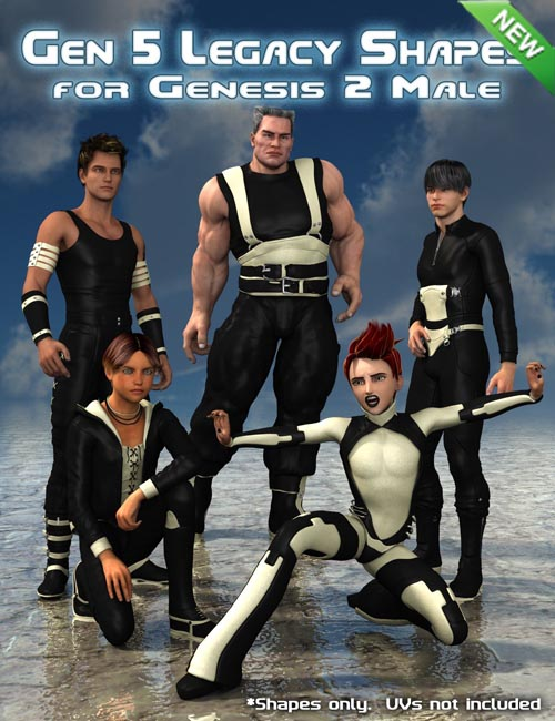 Generation 5 Legacy Shapes for Genesis 2 Male(s)
