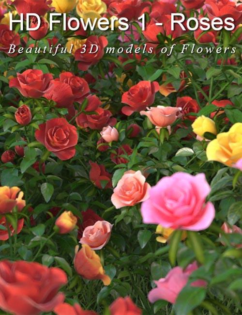 3DMentor: HD Flowers vol. 1 - Roses