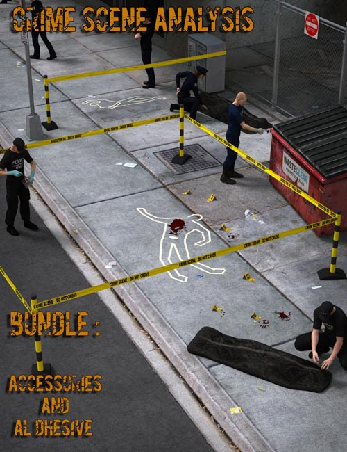 Crime Scene Analysis : Accessories and Al Dhesive Bundle
