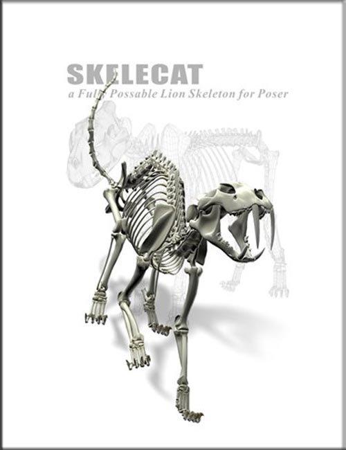 Skele Cat for Poser