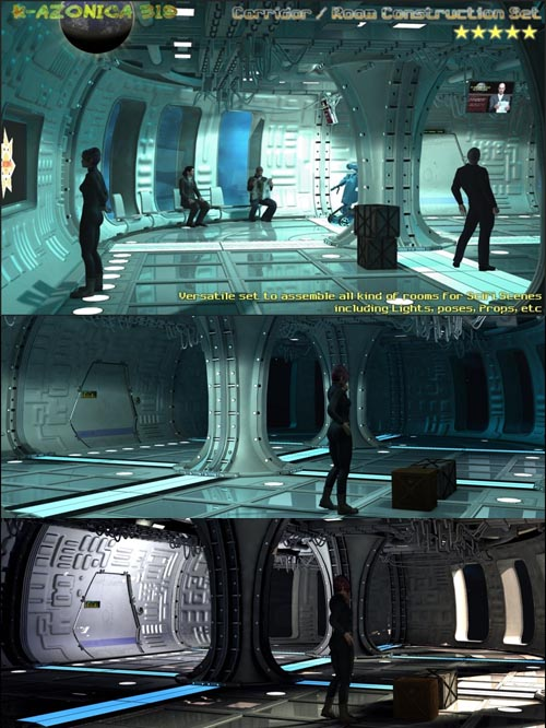 SciFi Room/Corridor Construction Set