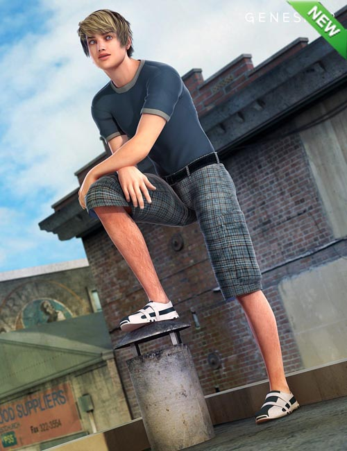 Parkour Wear for Genesis 2 Male(s)
