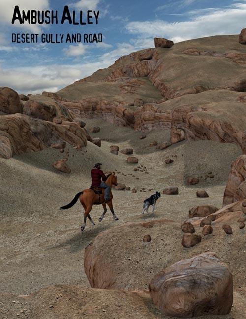 Ambush Alley Desert Road and Gully