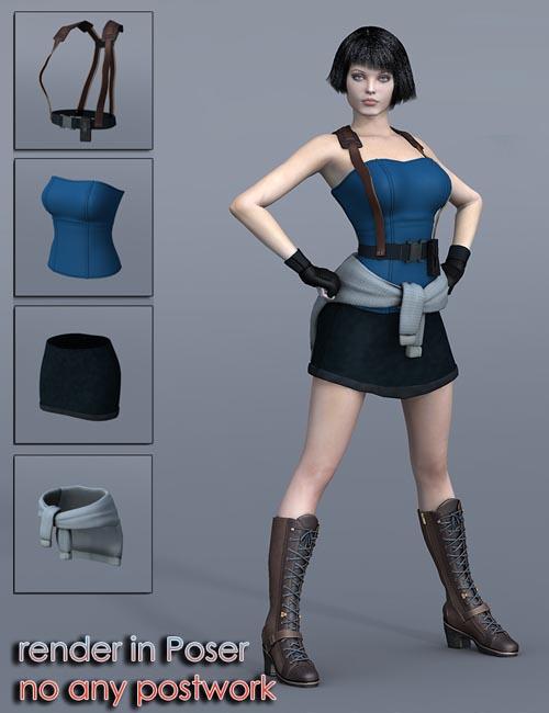 Slide3D J Clothes for V4