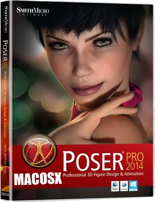 Poser Pro 2014 - v10.0.3 + Content for MacOSX