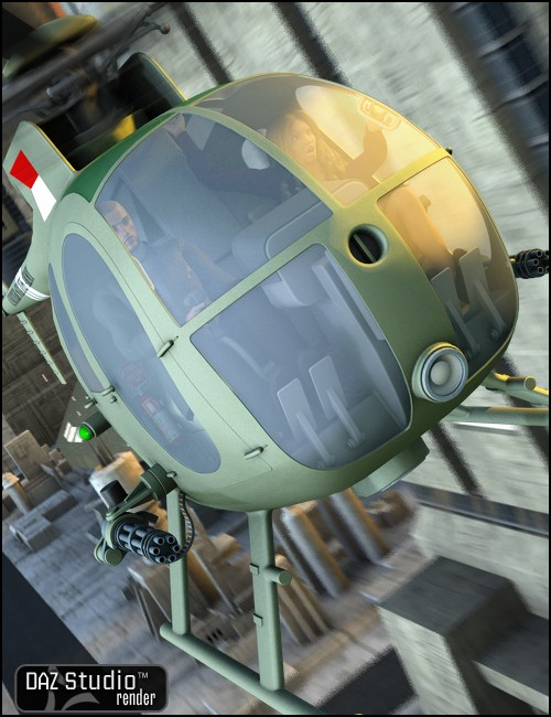 OH6A Helicopter [. Duf and iray update ]