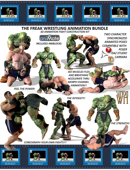The Freak Wrestling Animation Bundle
