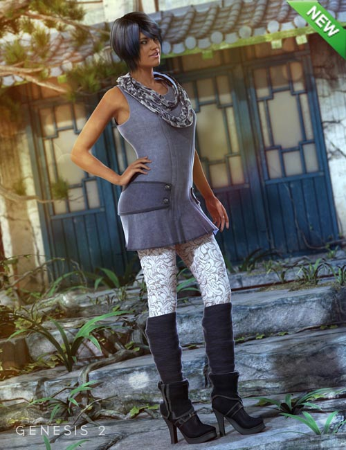 Early Spring Outfit for Genesis 2 Female(s)