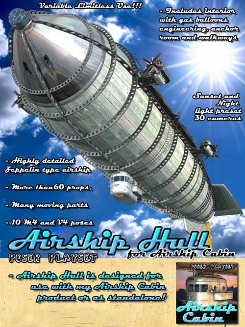 Airship Hull for Airship Cabin