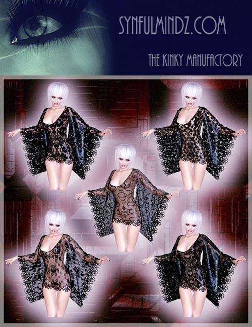 Cabaret Kimono Dress V4