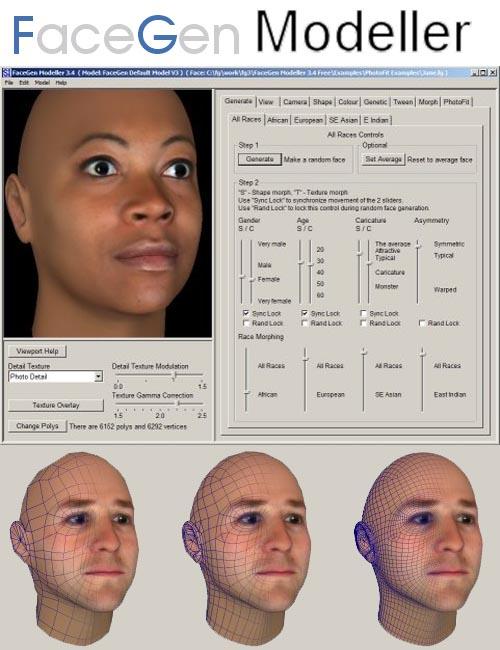 FaceGen Modeler 3.1