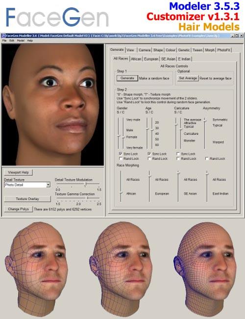FaceGen Modeler 3.5.3 Suite