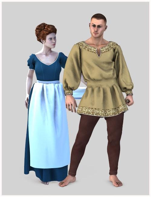 Dynamic Peasant Clothing Bundle