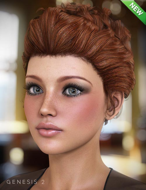 Sultry Hair for Genesis and Genesis 2 Females