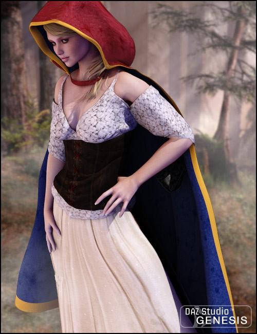 Hooded Cloak for Genesis