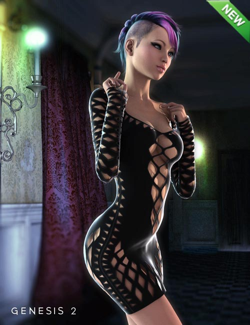 Shredded Dress for Genesis 2 Female(s)