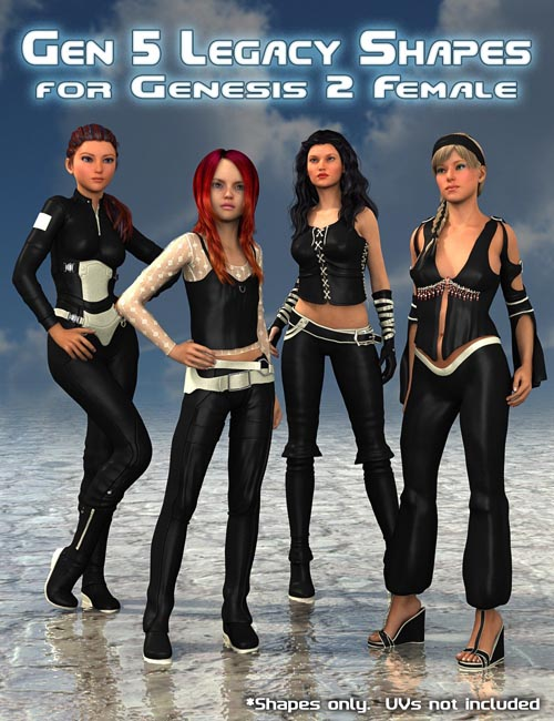 Generation 5 Legacy Shapes for Genesis 2 Female(s)