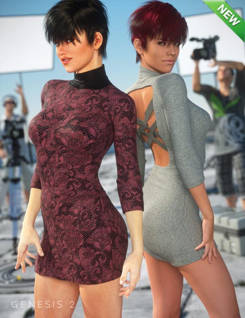 Cross-back Dress Textures