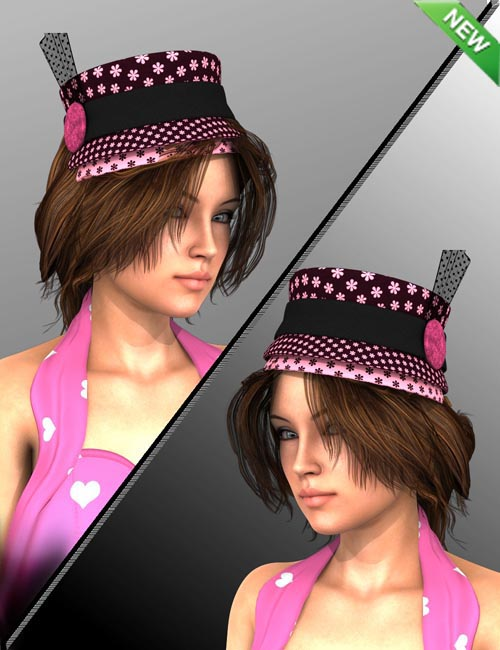 Hat and Hair Helper Genesis 2