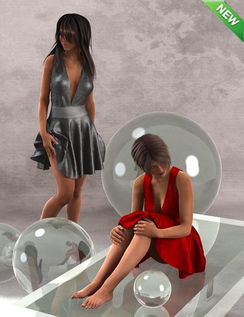 Playful Flirt Dress for Genesis 2 Female(s)
