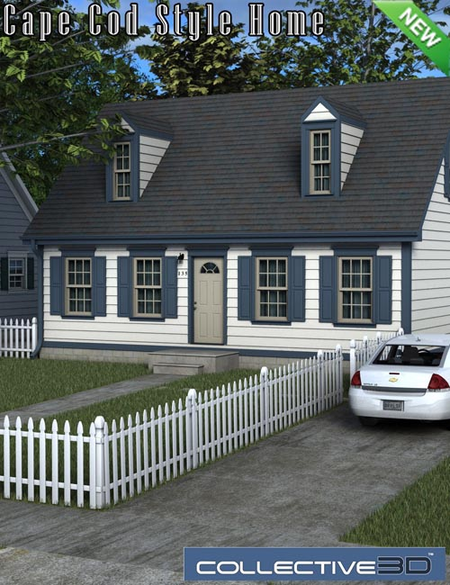 Collective3d Cape Cod Style Home