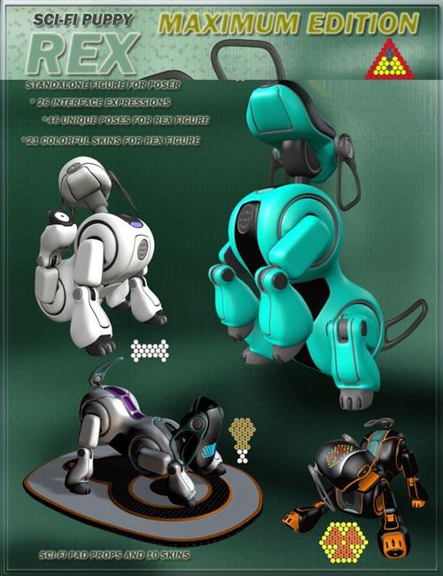 Sci-fi puppy Rex Maximum Edition