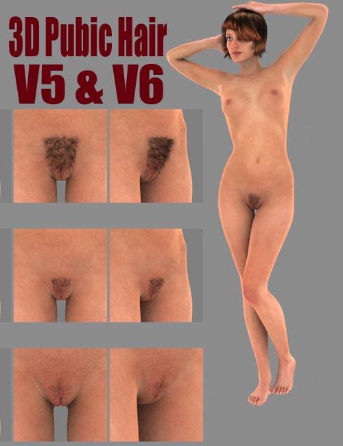 SFD's V5 & V6 3D Pubic Hair Bundle