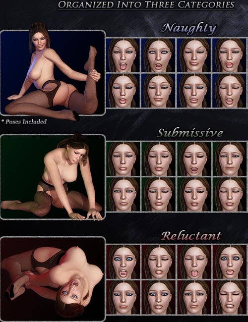 Xameva's Pain and Pleasure - Expressions for V4
