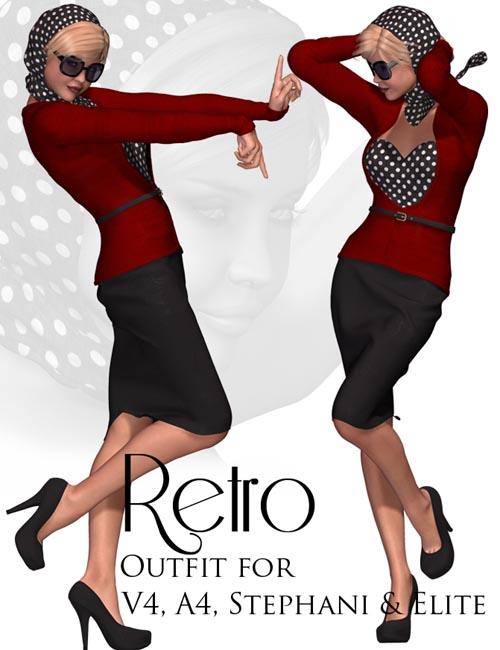Retro Outfit for V4, A4, Stephanie & Elite