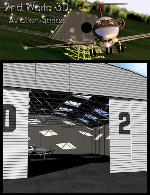 Light aircraft hangar